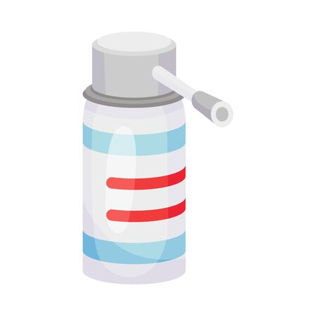 Medicine is in the form of a spray. Vector illustration on a white background.