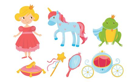 Accessories and Stuff For a Little Princess Vector Set