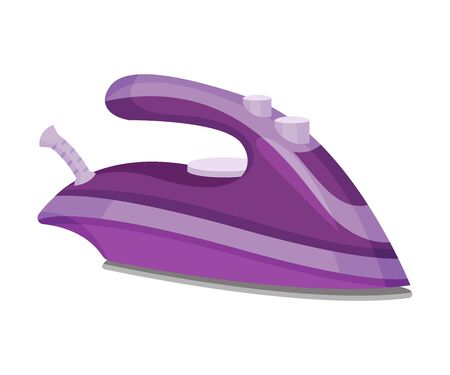 Violet with lilac iron. Vector illustration on a white background.