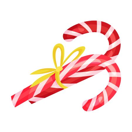 Candy canes. Vector illustration on a white background.