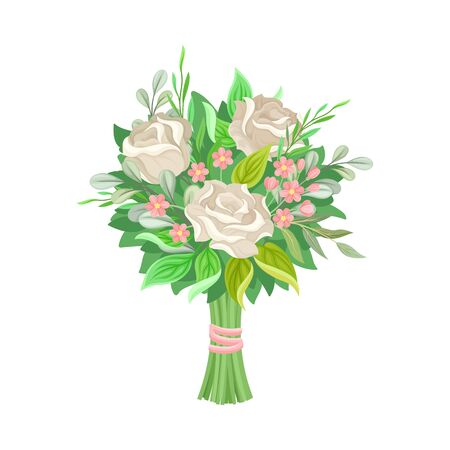 Wedding Bunch of Flowers Vector Illustrated Set