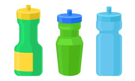 Colorful Jars For Spice And Condiments Vector Illustration Set Ilustração
