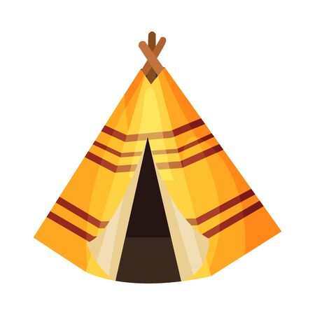 Wigwam as Thanksgiving Historical Feast Symbol Vector Illustration