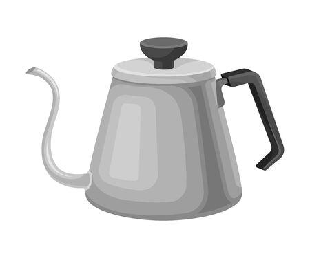 Kettle for Making Tea Vector Illustrated Element. Useful Household Item  イラスト・ベクター素材