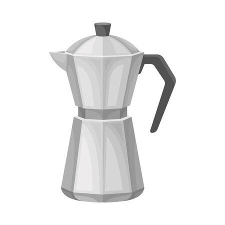 Kettle for Making Tea Vector Illustrated Element. Useful Household Item
