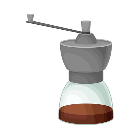 Glass Kettle for Making Tea or Coffee Vector Illustrated Element. Useful Household Item Illustration