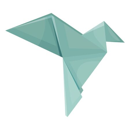 Origami Paper Bird Vector Illustration. Made of Paper Polygonal Shaped Figure Ilustracja