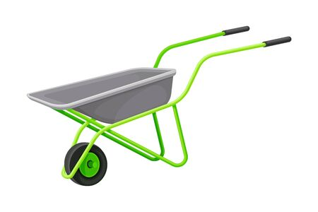 Garden Wheelbarrow as Handy Tool for Carrying Crops and Soil Vector Illustration Zdjęcie Seryjne - 146803904