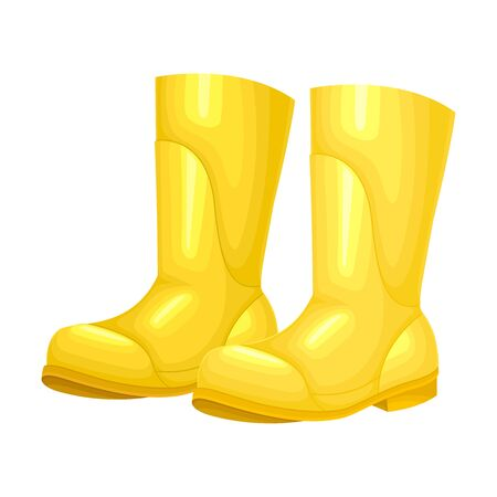 Rubber Garden Boots as Protective Uniform for Working in Yard Vector Illustration Zdjęcie Seryjne - 146790141