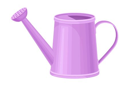 Watering Can as Garden Tool for Pouring Plants Vector Illustration
