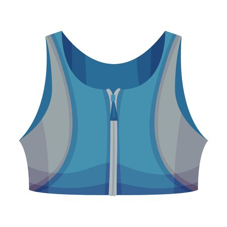 Training Sports Bra or Racerback Tank as Track Womenswear Vector Illustration Vettoriali