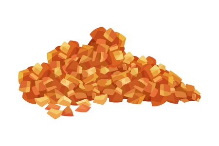 Pile of Brown Sugar Crystals as Sweetener for Tea and Coffee Vector Illustration Vecteurs