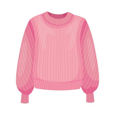 Women Sweater or Jumper with Long Sleeves Illustration. Fashionable Womenswear for Contemporary Look
