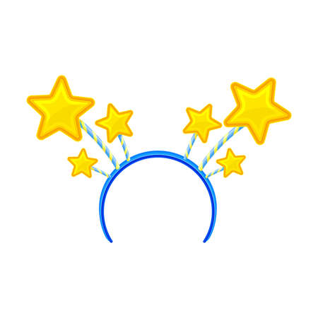 Hair Hoop or Headband with Stars as Carnival or Party Attribute Vector Illustration
