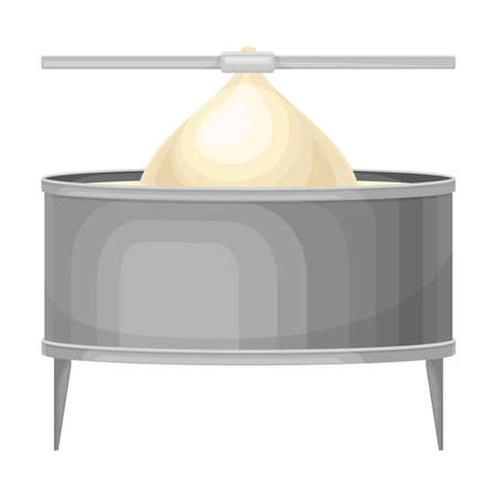 Cheese Production Process with Molding Stage Vector Illustration 일러스트