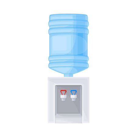 Dispenser or Water Cooler with Drinking Purified Water Vector Illustration