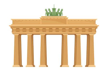 Brandenburg Gate as Monument in Berlin Vector Illustration Ilustração Vetorial