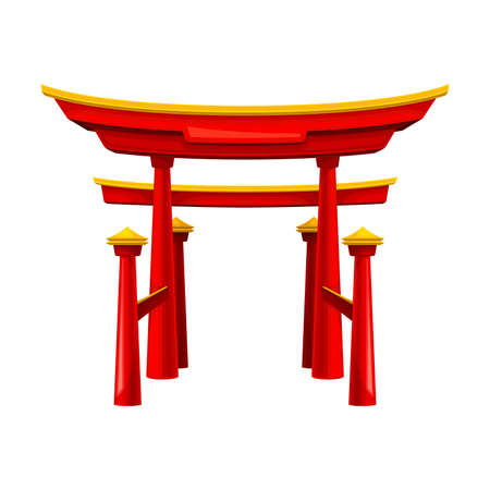 Torii as Traditional Japanese Sacred Gate Vector Illustration 矢量图片