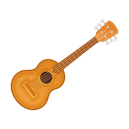 Spanish Guitar as Acoustic Stringed Musical Instrument Vector Illustration
