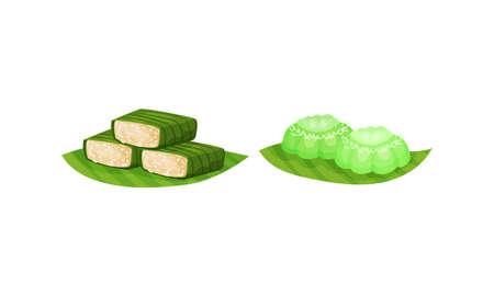Arabic Sweets with Famous Rahat Lakoum Vector Set
