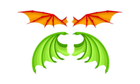 Membranous Wings of Different Flying Creature Vector Set 向量圖像
