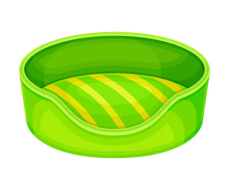Round Soft Bedding Place for Pet Vector Illustration Vector Illustratie