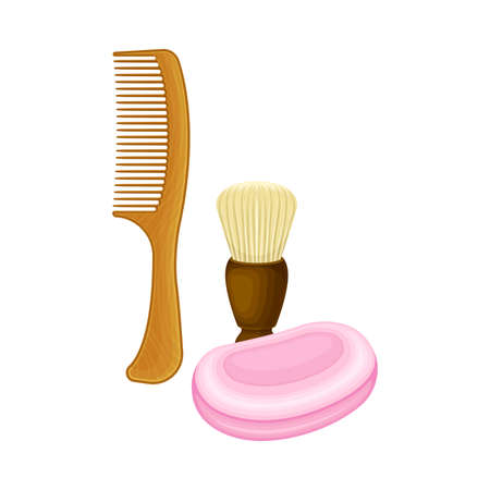 Personal Hygiene Items as Everyday Reused Object Vector Illustration