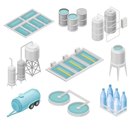 Water Purification Process with Filtration, Sedimentation and Distillation in Cylindrical Tanks and Reservoir