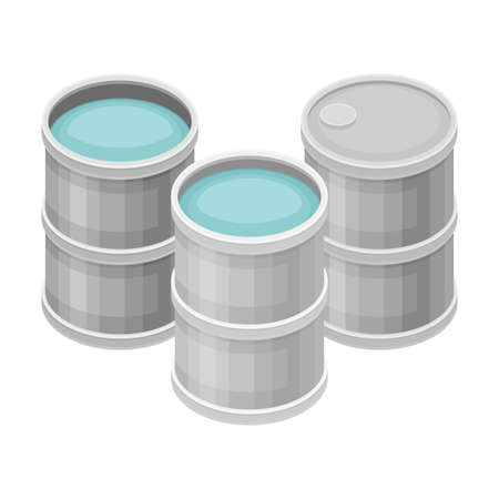 Water Poured in Cylindrical Metal Tanks for Storage