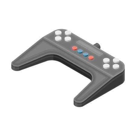 Gamepad or Joystick as Wireless Network Communication Technology Isometric Vector Illustration