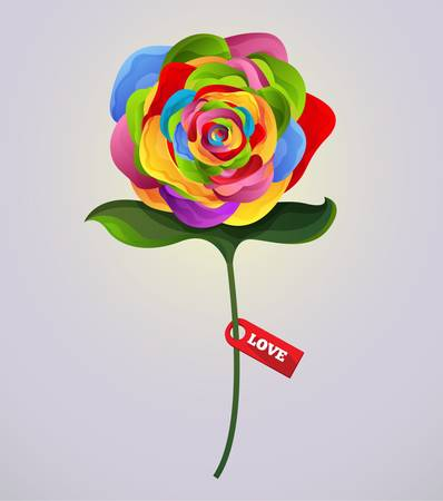 Rose vector colorful Illustration