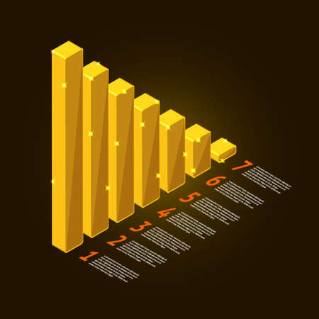 Graph vector element gold and information report show business data success Stock Vector - 20907154