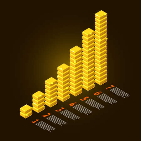 Graph vector element gold and information report show business data success Stock Vector - 20907155
