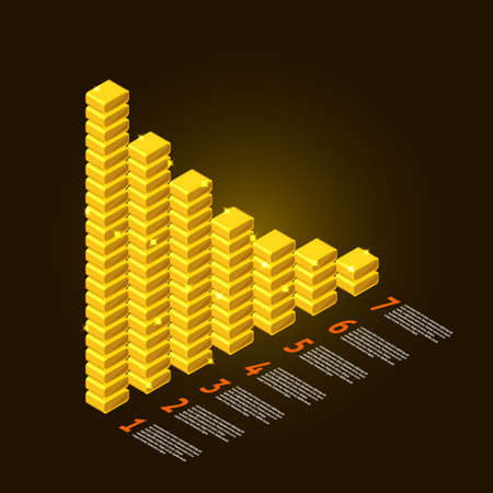 Graph vector element gold and information report show business data success Stock Vector - 20907156