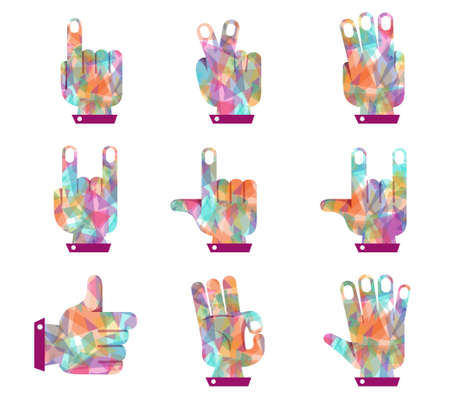 Hand vector colorful shape diamond Stock Vector - 20907163