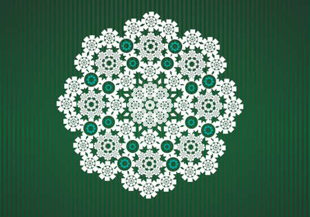 Vector lace circle graphic