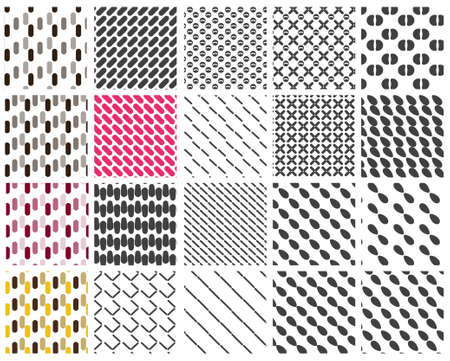 Vector pattern set for background repeat Vector