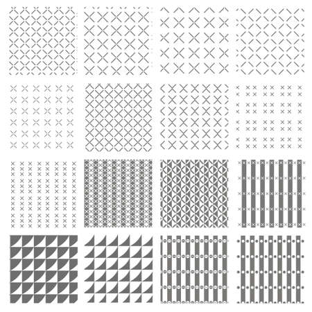 Vector pattern set for background repeat
