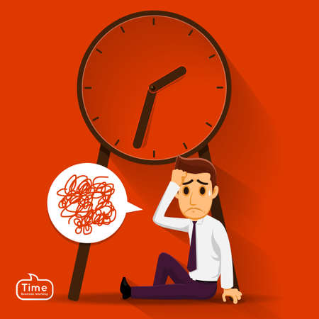 salaryman: Businessman not think about good idea becuase he pressure by timing