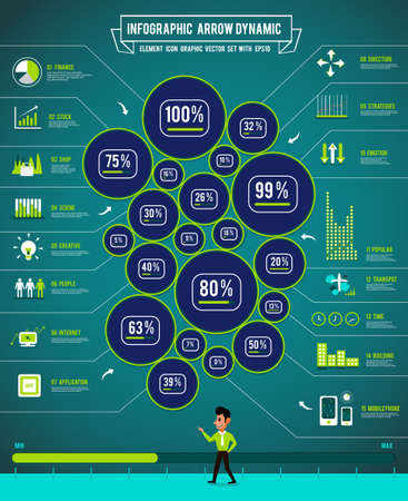 Infographics element and graph chart diagram