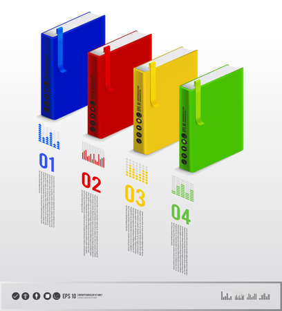 Book of infographic layout