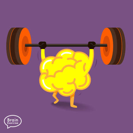 Brain charactor vector design fitness for smart brain with dumbbell