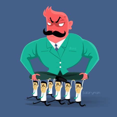 Angry Boss Aktion salaryman in Arbeit Geschäftszeit Standard-Bild - 22822608