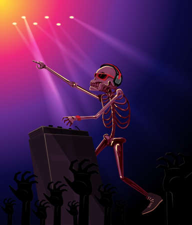 Skull Ghost  in the House and mixing up some Halloween horror night party