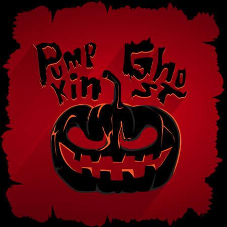 Pumpkin ghost graphic for design in layout halloween  Vector