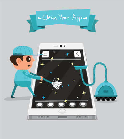 Technician smartphone service to your application   Clean Your App