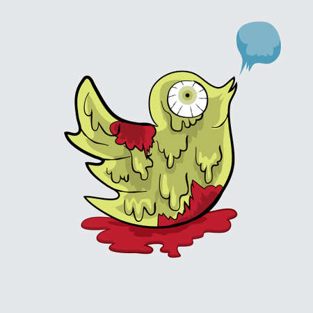 Bird  Zombie vector file for anything in halloween Vector