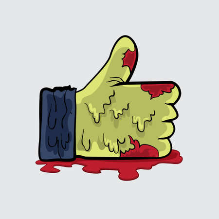 Zombie like hand vector file for anything in halloween