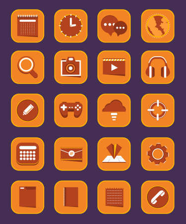 yelow: Vector App Icon for Smartphone Device