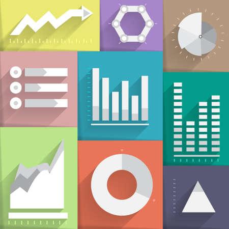 Pictogram van digitale marketing style plat ontwerp